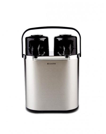 Garrafa Térmica Dupla Aço Inox Linha Profissional 2 litros Cada
