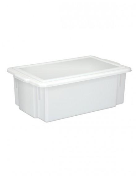 Caixa Branca Opaca Multi-Uso c/ tampa 16,5L