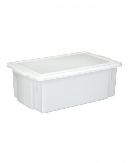Caixa Branca Opaca Multi-Uso com tampa 16,5L