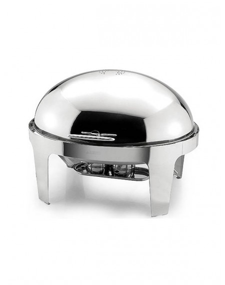 Rechaud Chafing Dish Oval Tampa Basculante Aço Inox 9L