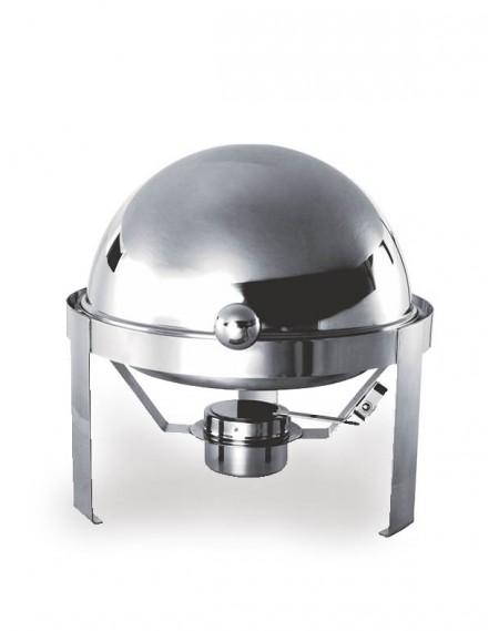 Rechaud Chafing Dish Redondo Tampa Basculante Aço Inox 3,5L