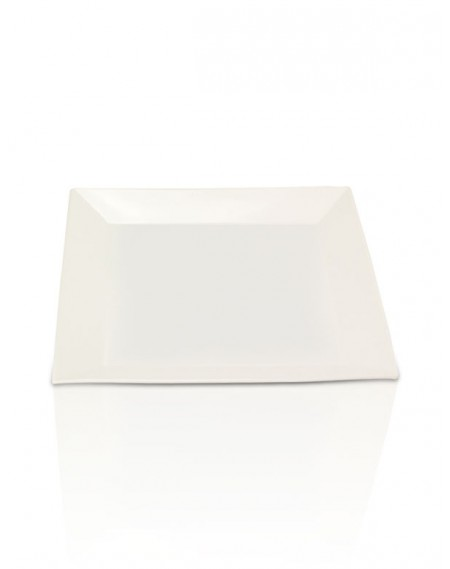 Prato Quadrado Porcelana Branca 36x36cm