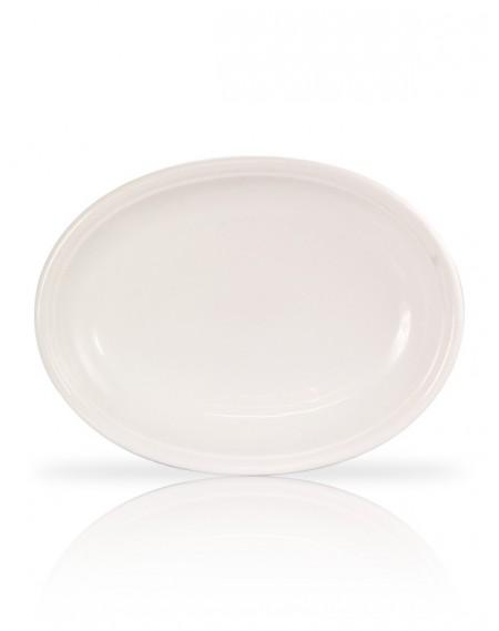Travessa Oval Funda Porcelana Branca 50x37x7cm