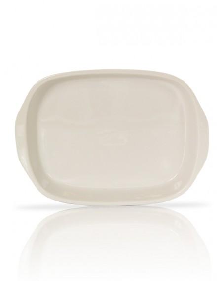 Assadeira Oval pequena com Alças Porcelana Branca 36x26x6cm