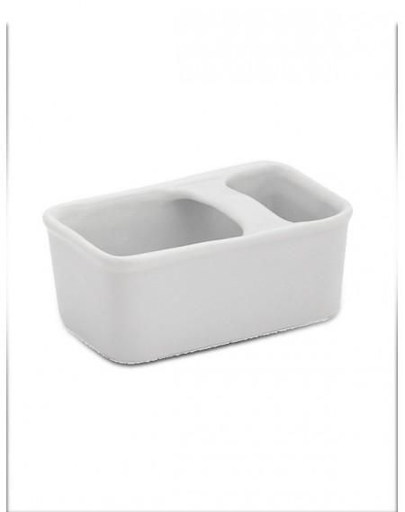 Porta Sachê Porcelana Branca Geni 11cm