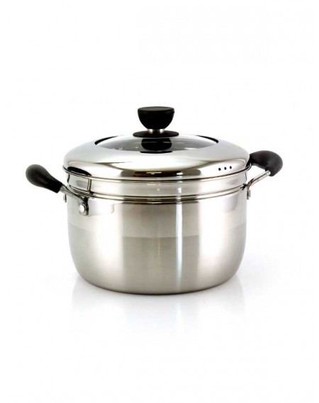 Panela de Cozinhar a Vapor Inox 5 Litros