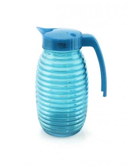 Jarra de Vidro Colmeia 1 Litro Azul