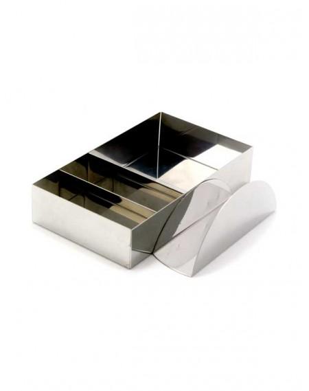 Porta Guardanapo pequeno com 3 Divisórias Aço Inox