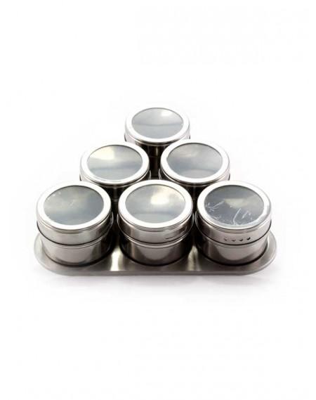 Porta Condimentos Magnético Inox 06 Peças