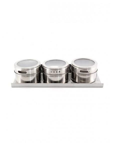 Porta Condimentos Magnético Inox 03 Peças