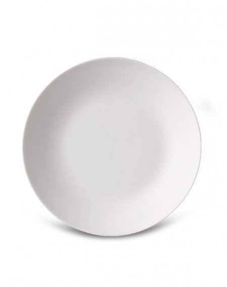 Prato Sobremesa Branco Ronda/Bombay Ø20cm Bormioli