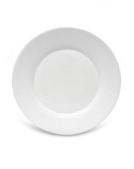 Prato Sobremesa Branco Toledo Ø20cm Bormioli
