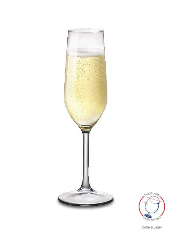 Taça para Champanhe Riserva Flute 215ml Bormioli