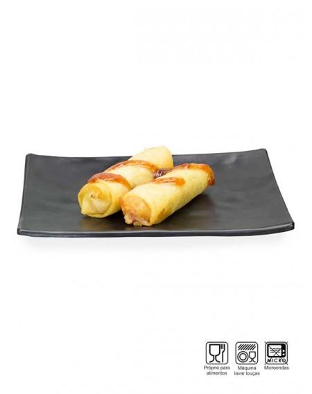 Travessa Sushi-Sashimi Retangular Melamina Profissional 20cm