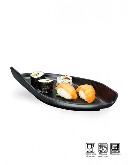 Travessa Sushi-Sashimi Oval Melamina Profissional 28cm