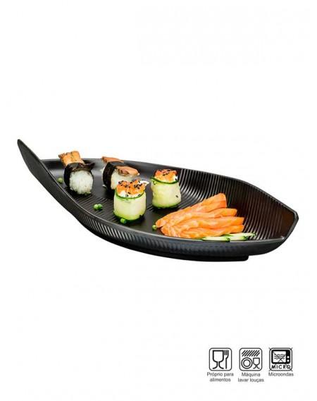 Travessa Sushi-Sashimi Oval Melamina Profissional 35cm