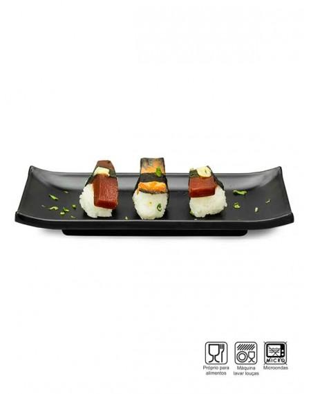 Prato Sushi-Sashimi Melamina Profissional 22cm