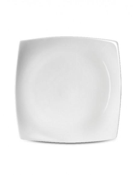Prato Raso Square Porcelana Branca Germer 27cm