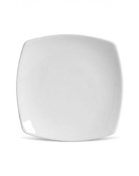 Prato Sobremesa Square Porcelana Branca Germer 21cm