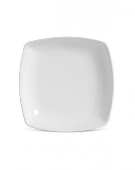 Prato Fundo Square Porcelana Branca Germer 18cm
