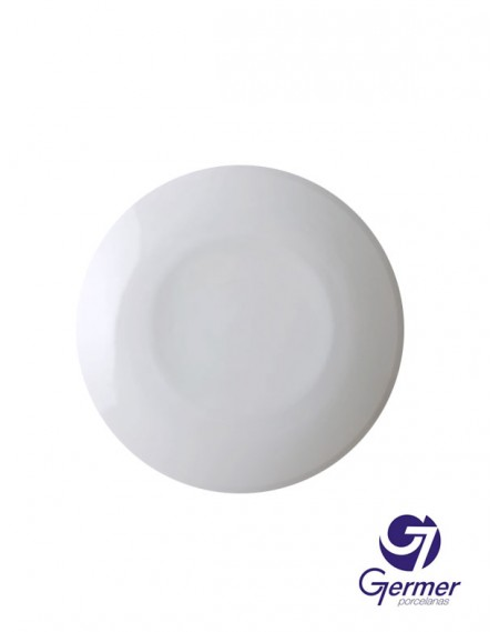 Prato Fundo Coup Porcelana Branca Germer Ø25cm