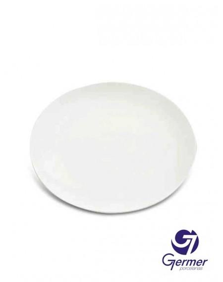 Prato Sobremesa Coup Porcelana Branca Germer Ø19cm