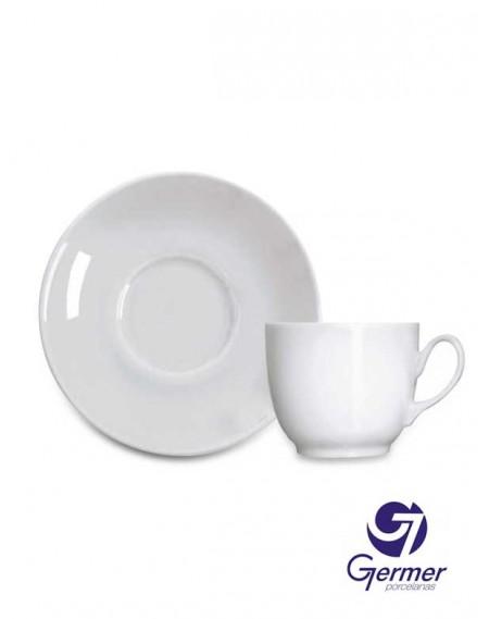 Xícara Café com Pires Coup Porcelana Branca Germer 75ml