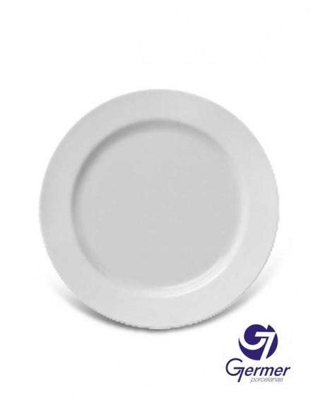 Prato Sobremesa Capri Porcelana Branca Germer Ø20cm