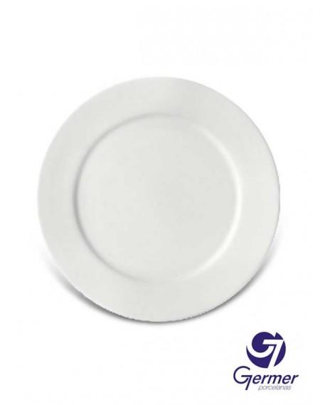 Prato Raso BarHotel Porcelana Branca Germer Ø24cm