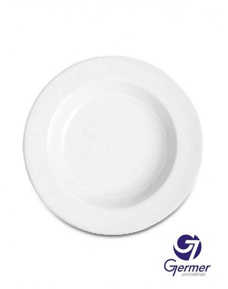 Prato Fundo BarHotel Porcelana Branca Germer Ø24cm