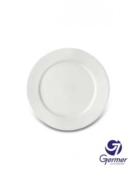 Prato Sobremesa BarHotel Porcelana Branca Germer Ø19cm