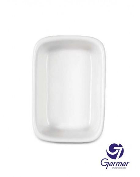 Travessa Retangular Funda BarHotel Porcelana Branca Germer 22cm