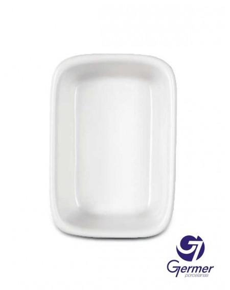 Travessa Retangular Funda BarHotel Porcelana Branca Germer 27cm