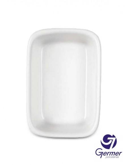 Travessa Retangular Funda BarHotel Porcelana Branca Germer 32cm