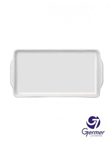 Bandeja Sanduíche BarHotel Porcelana Branca Germer 25cm