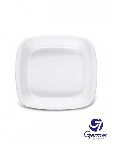 Forma MW Quadrada BarHotel Porcelana Branca Germer 18cm