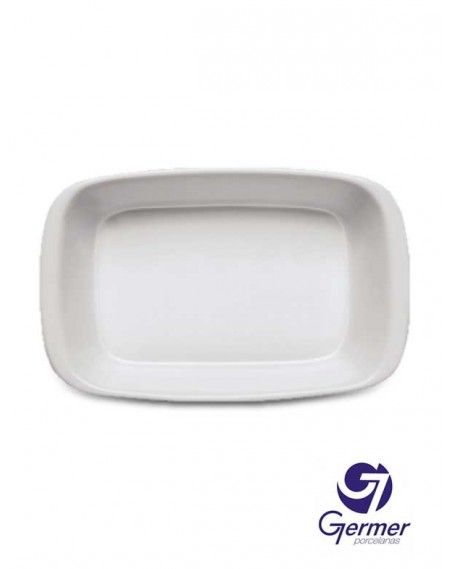 Bandeja MW Retangular BarHotel Porcelana Branca Germer 23cm