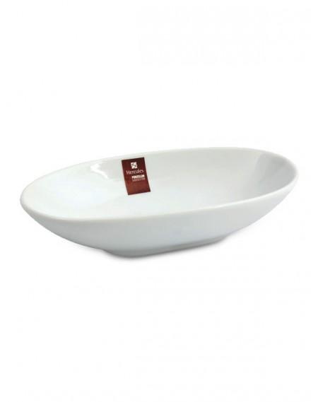 Mini Travessa Oval Porcelana Branca Hércules 9cm
