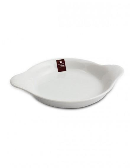 Travessa Oval com Asas Porcelana Branca Hércules 30cm