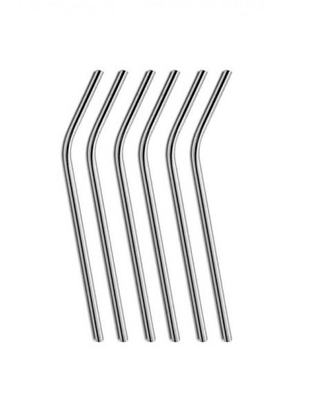Canudo Curvo em Metal