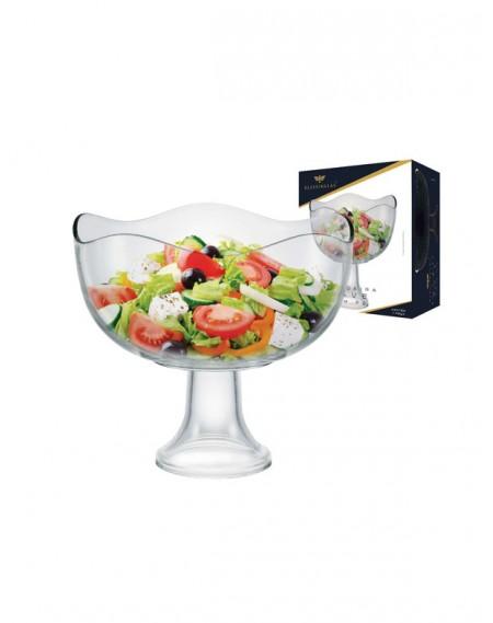 Saladeira de Vidro Wave com Pé