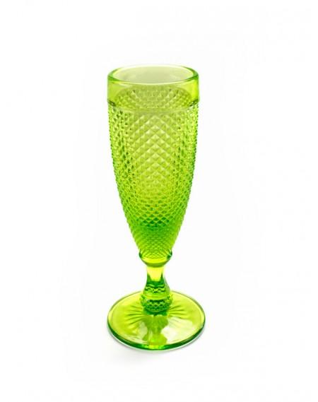 Taça de Champanhe Bico de Jaca Verde 6 unidades