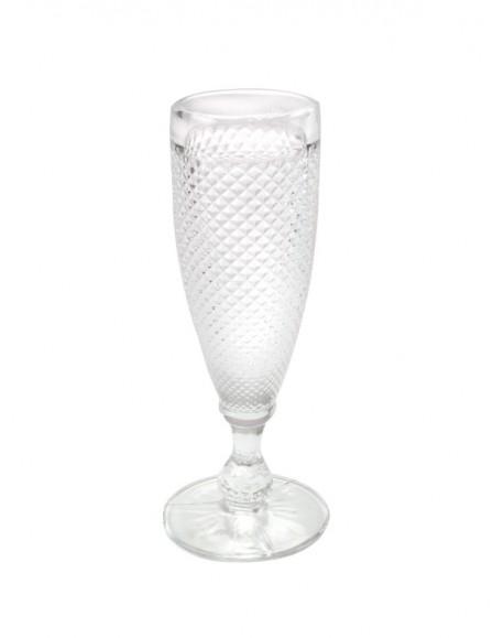 Taça para Champanhe Bico de Jaca transparente