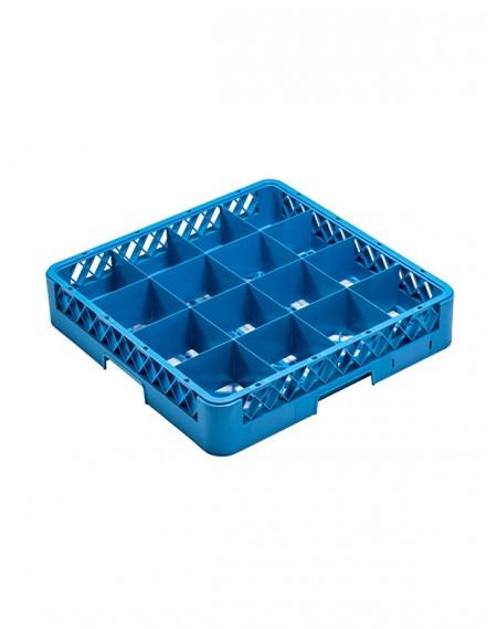 Rack para Lavagem de Copos com 16 Compartimentos + 2 Extensores