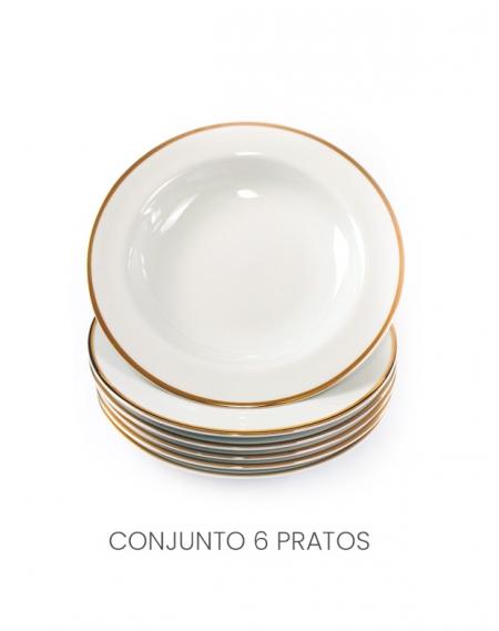 Jogo de pPato Fundo Ø24cm Filete Ouro