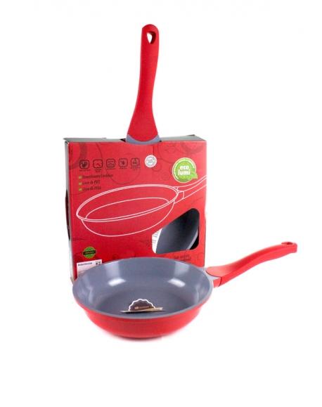 Frigideira Vermelha Cerâmica Ecolumi 24cm