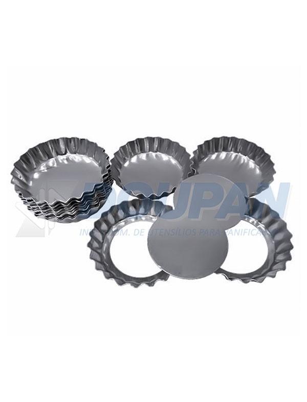 b117486581 Forminha Alumínio Torta de Maçã Crespa Fundo Falso 6