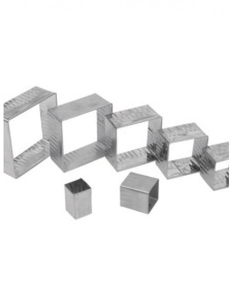 Jogo Alumínio Cortador Quadrado Crespo 7 peças