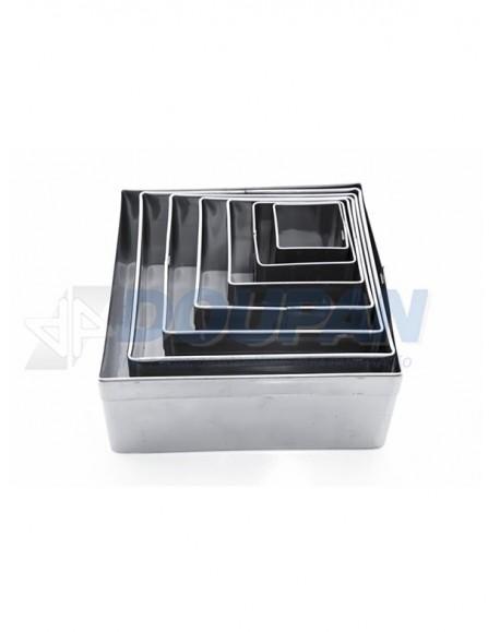 Jogo Alumínio Cortador Quadrado Liso 7 peças